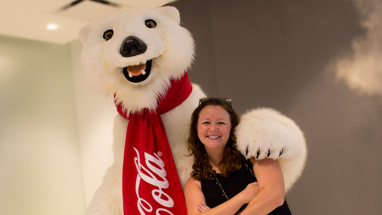 The Coca-Cola Polar Bear will be doing a meet-and-greet in Town Center in Disney Springs
