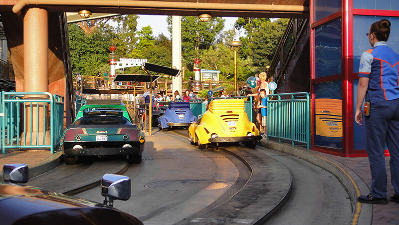 The Secret History of Disney Rides: Tomorrowland Speedway - Autopia Loading