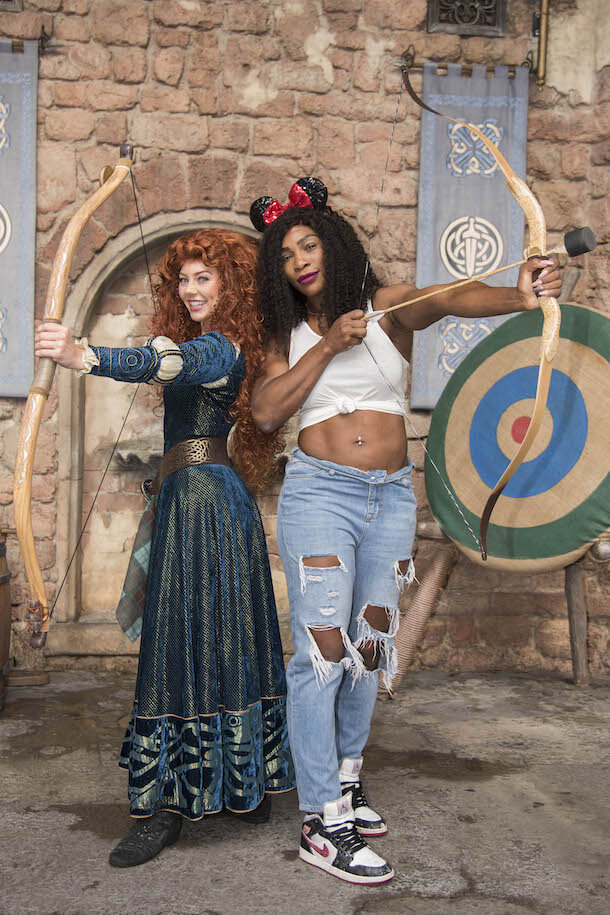Serena Williams with Merida