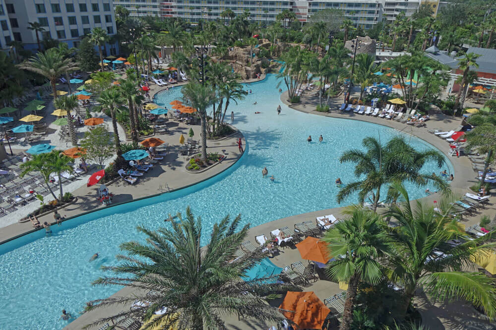 Loews Sapphire Falls Resort at Universal Orlando - Pool closeup