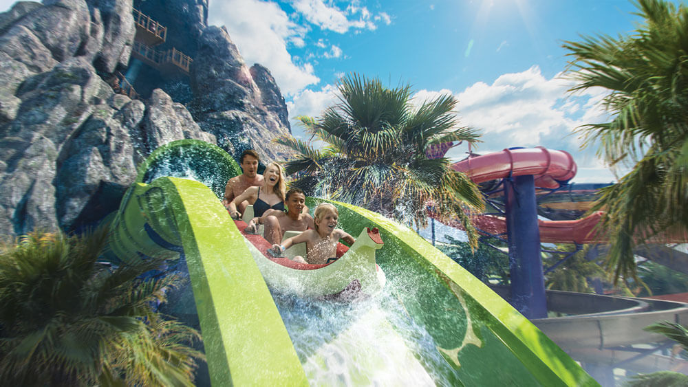 Down—and Uphill!—Coaster is the Centerpiece of Universal's New Water Park