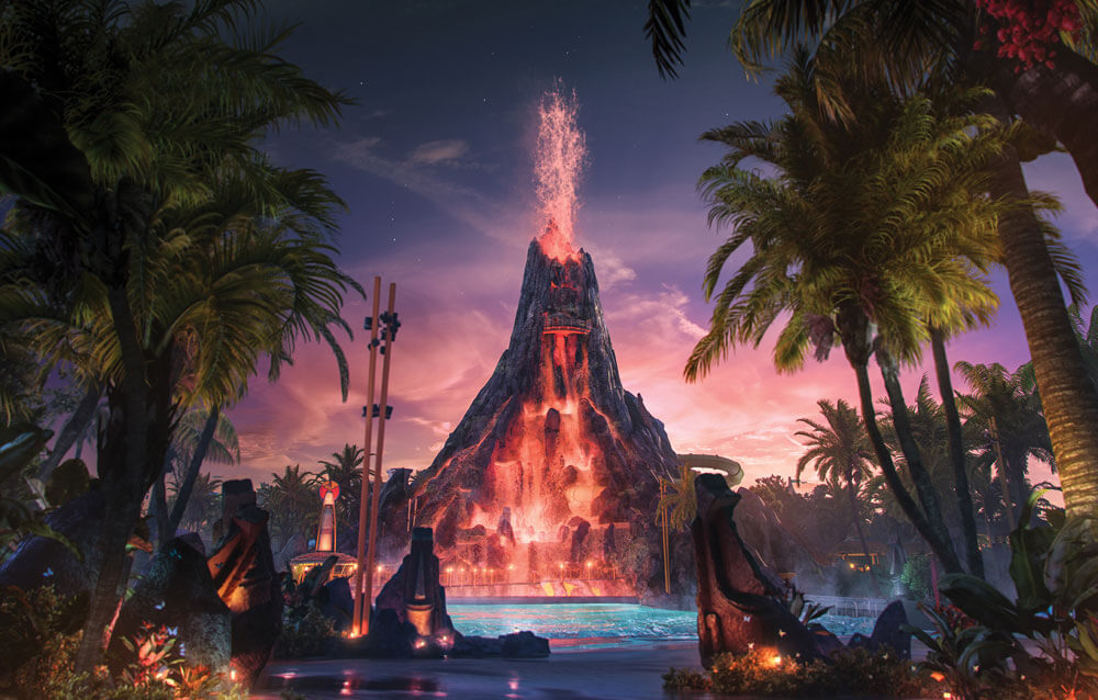 Best Universal Orlando Ticket - Universal's Volcano Bay at Night