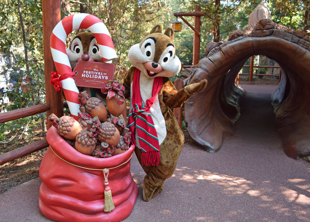 Holiday Treats at Disneyland - Chip and Dale