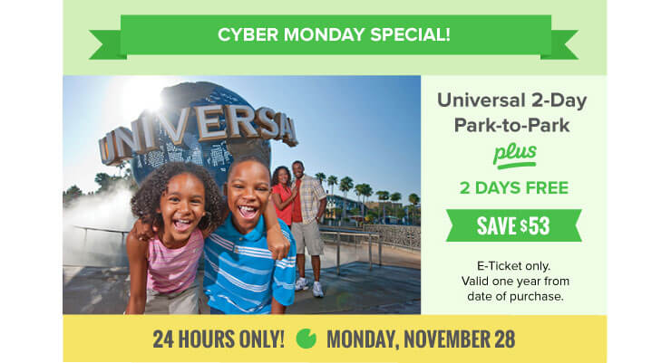 Save Big on Your Orlando Vacation for Cyber Monday!