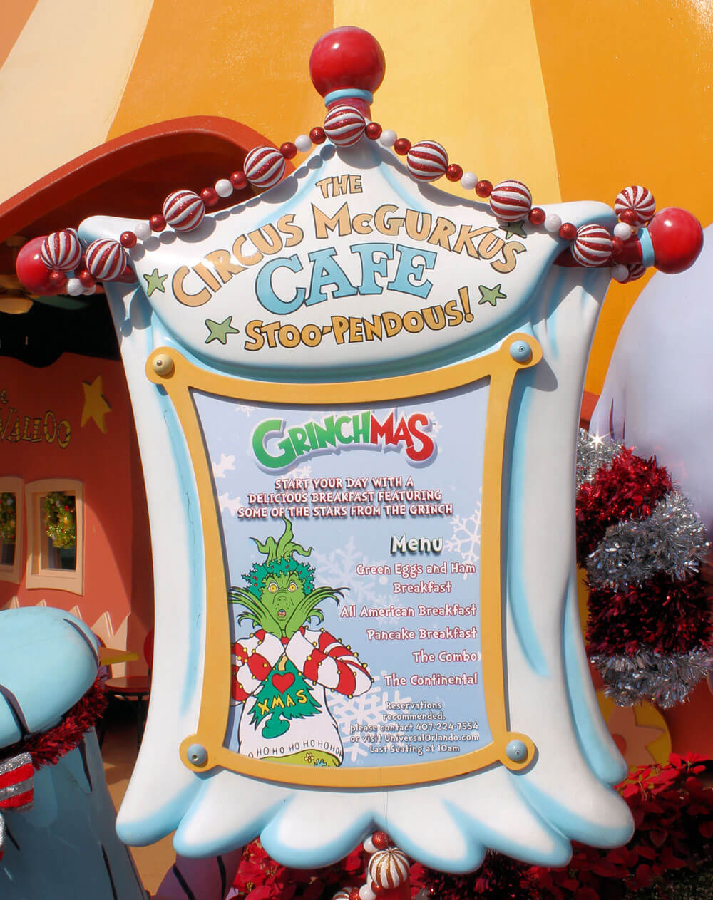 The Grinch and Friends Character Breakfast at Universal's Islands of Adventure