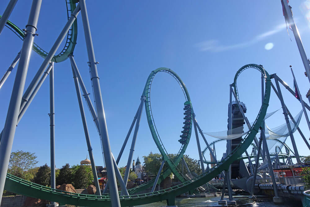 Universal Orlando Holiday Crowds - Incredible Hulk Coaster