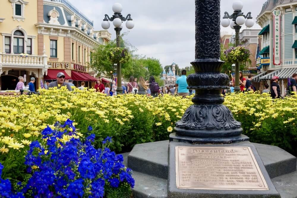 Best Time to Visit Disneyland in 2017 & 2018 - Disneyland Dedication Plaque