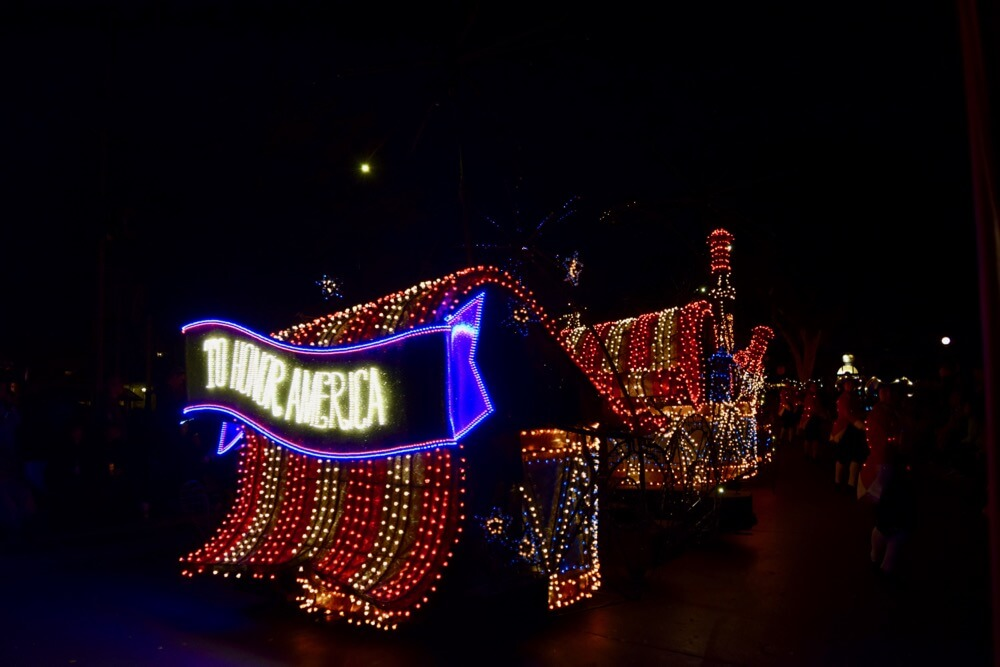 Best Viewing of the Main Street Electrical Parade - MSEP America Float width=
