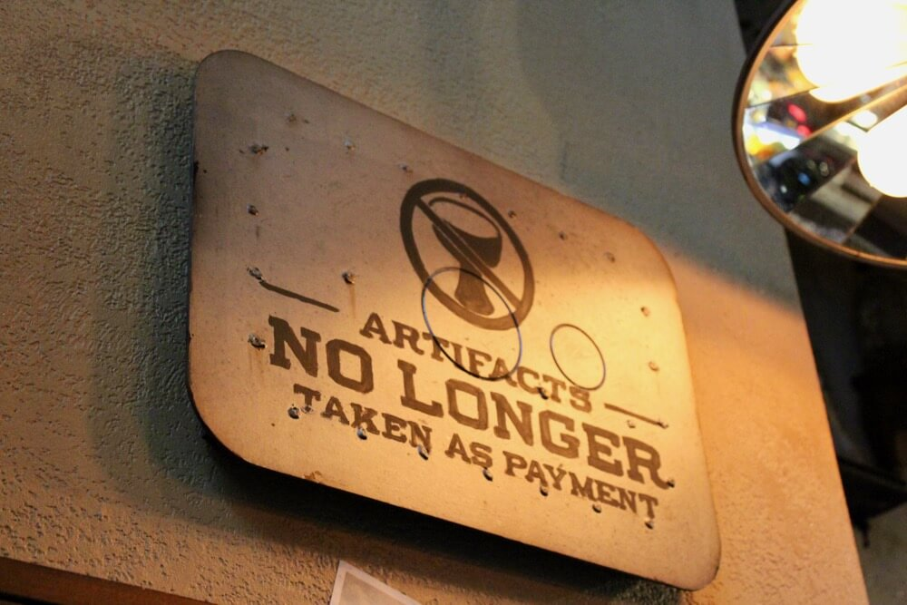 The 6 Best Bars and Lounges at Disney World - Jock Lindsey's Grail Signage