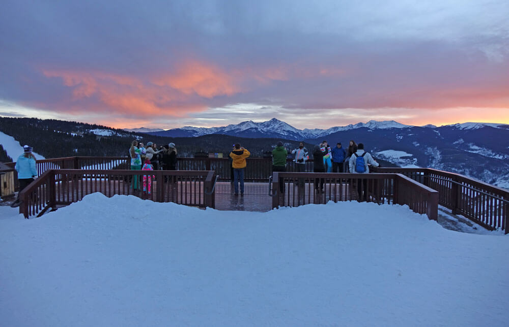 Find the Best Ski Resort for Your Family - Vail Sunset