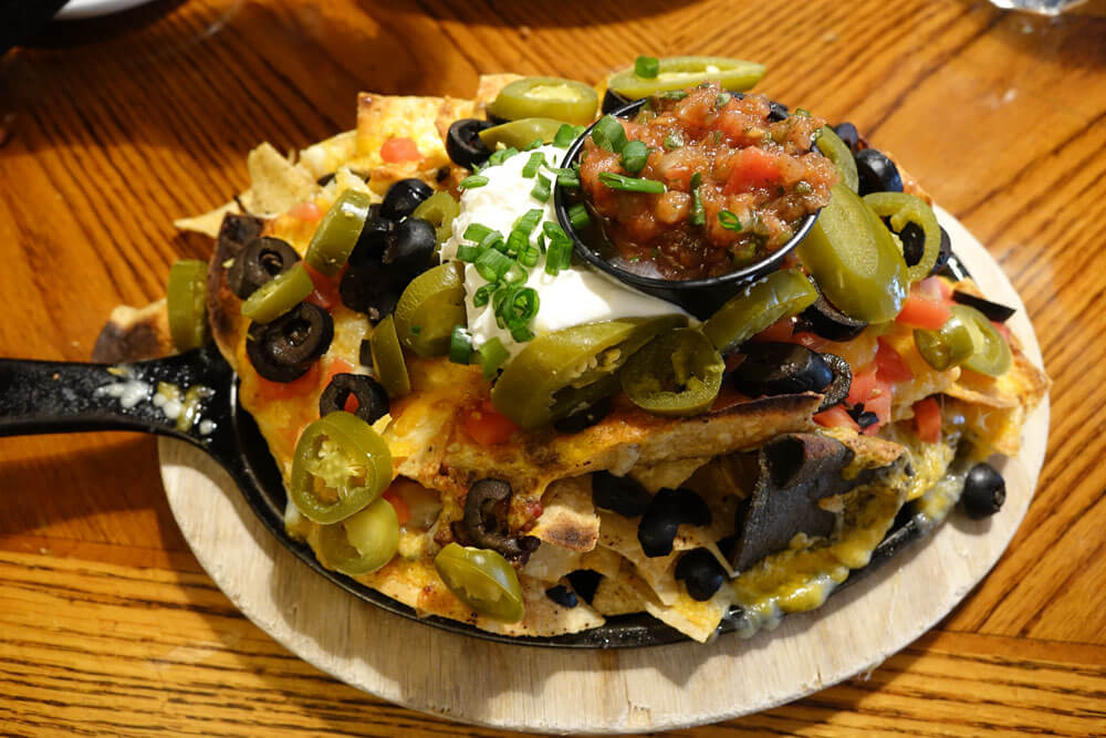 Saving on a Family Ski Trip - Nachos at the Red Lion