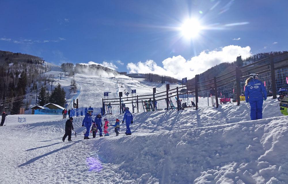 Tips for a Family Ski Trip - Sunny Day at Ski School