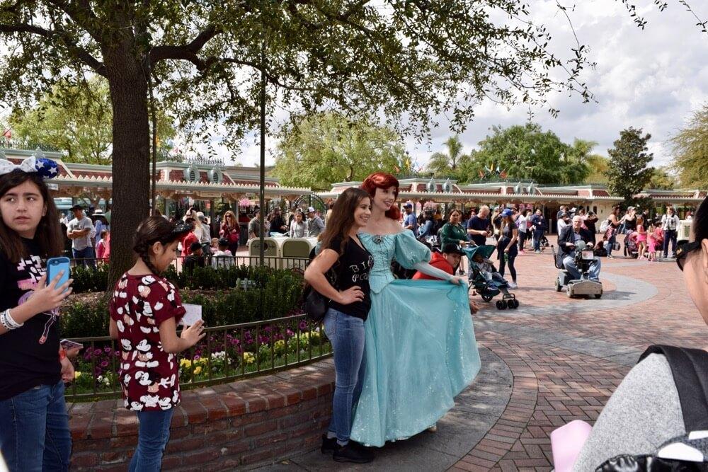 Meeting Princesses at Disneyland - Ariel at Main Entrance