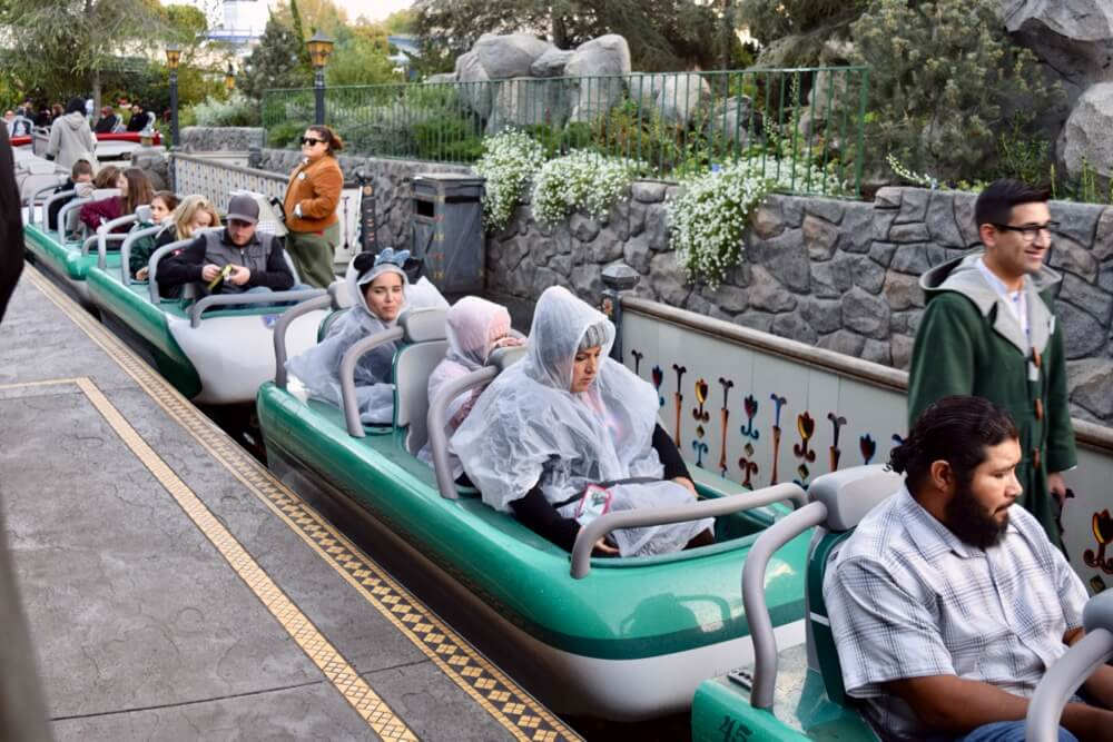 Disneyland Rainy Day Tips - Ponchos on the Matterhorn