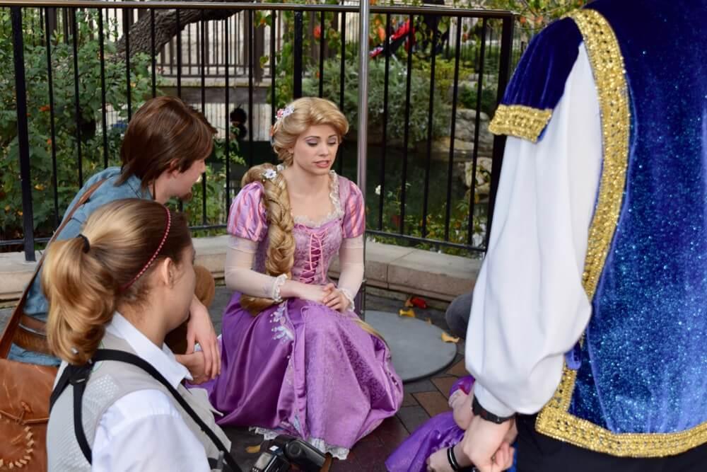 Meeting Princesses at Disneyland - Rapunzel