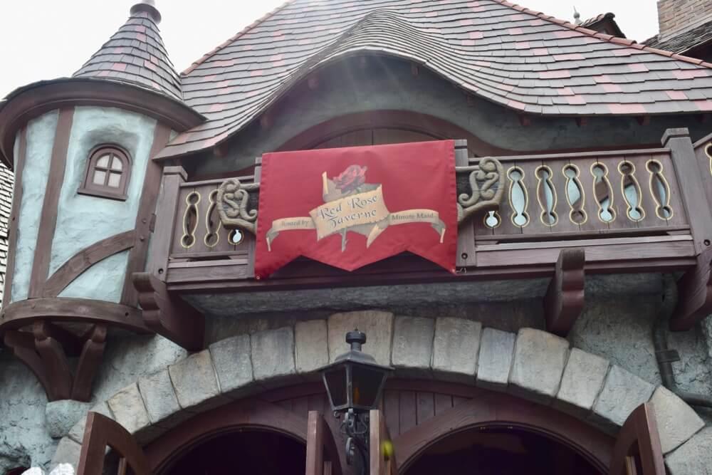 Disneyland Quick Service Restaurants - Red Rose Taverne Entrance