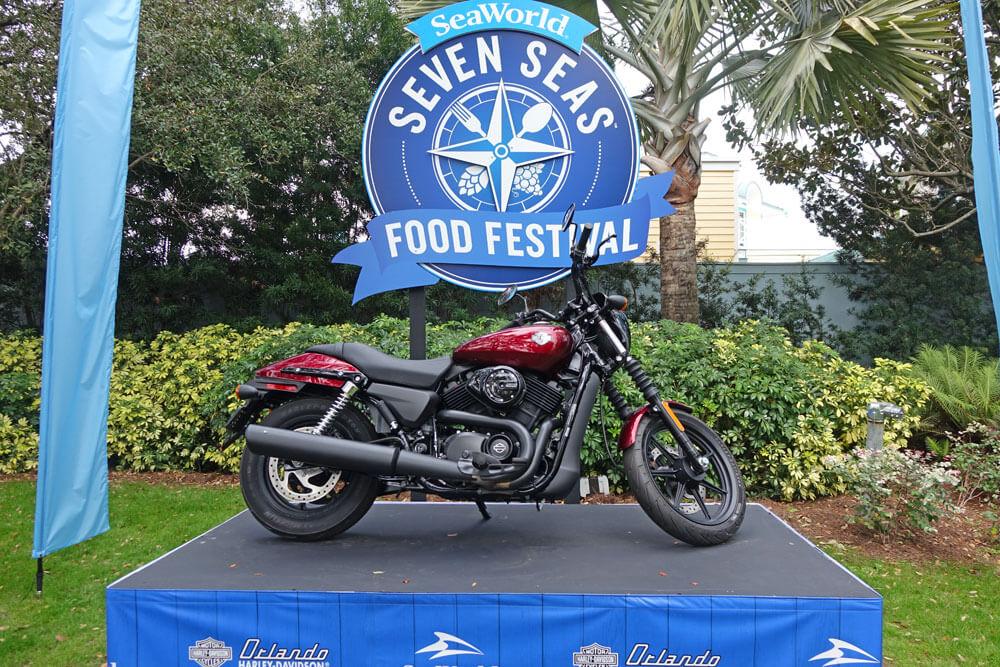 SeaWorld Orlando Seven Seas Food Festival - Harleys on Display