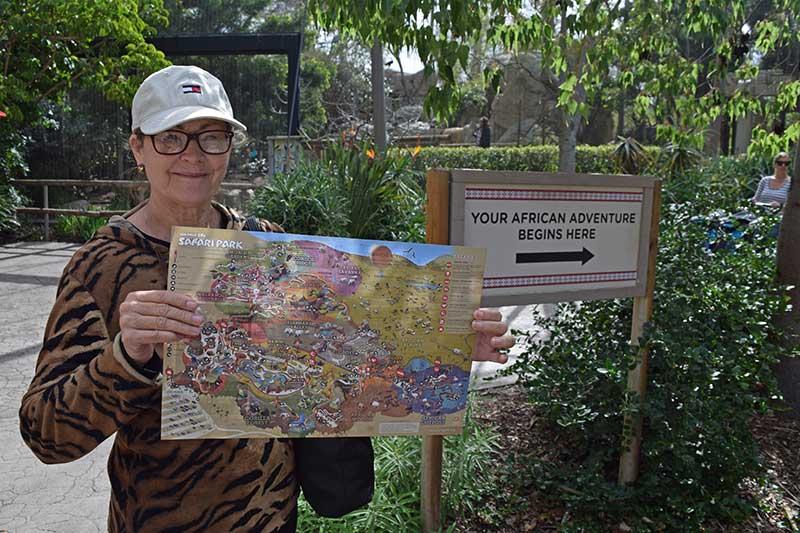 San Diego Zoo Safari Park Tips - Grab a Map