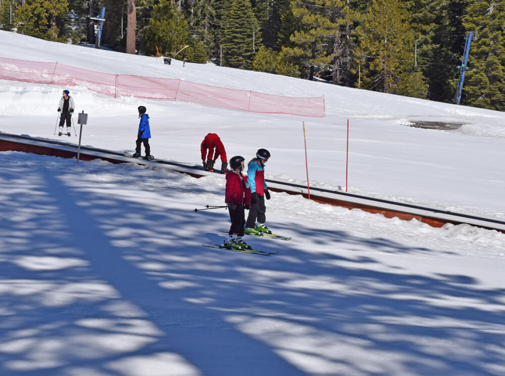 North Lake Tahoe Ski Resorts for Families - Kids Skiing at Homewood