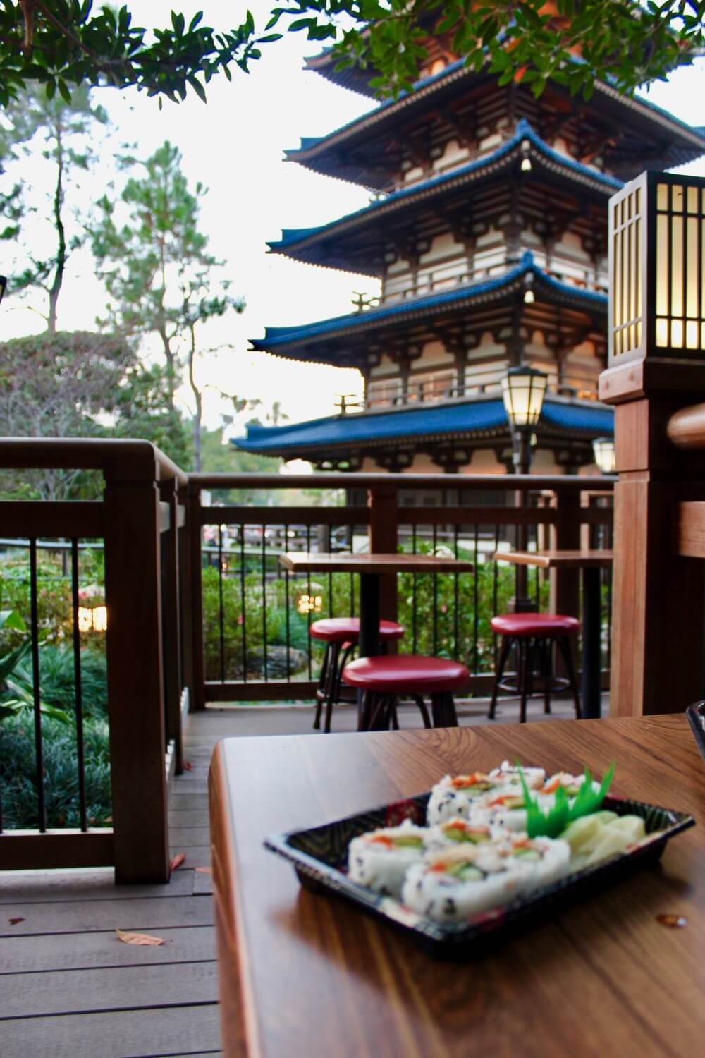 Counter Service Restaurants at Epcot - Katsura Grill Outdoor Seating