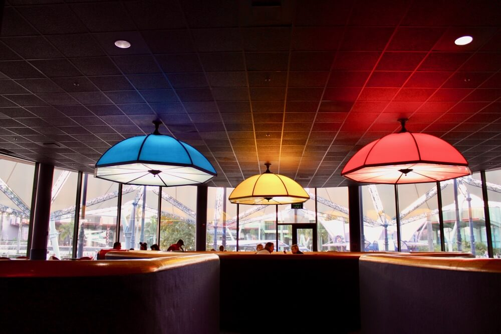 Counter Service Restaurants at Epcot- Electric Umbrella - Seating