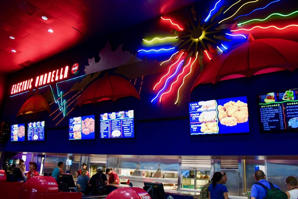Counter Service Restaurants at Epcot - Electric Umbrella - Counter Ordering Area
