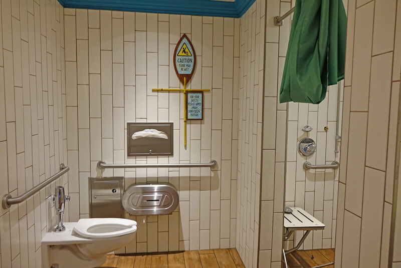 Universal's Volcano Bay Family Bathroom - Water Park Safety for Kids and Adults with Autism