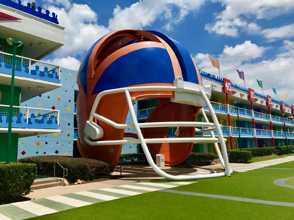 Disney World Value Resort Hotels - All Star Sports Football