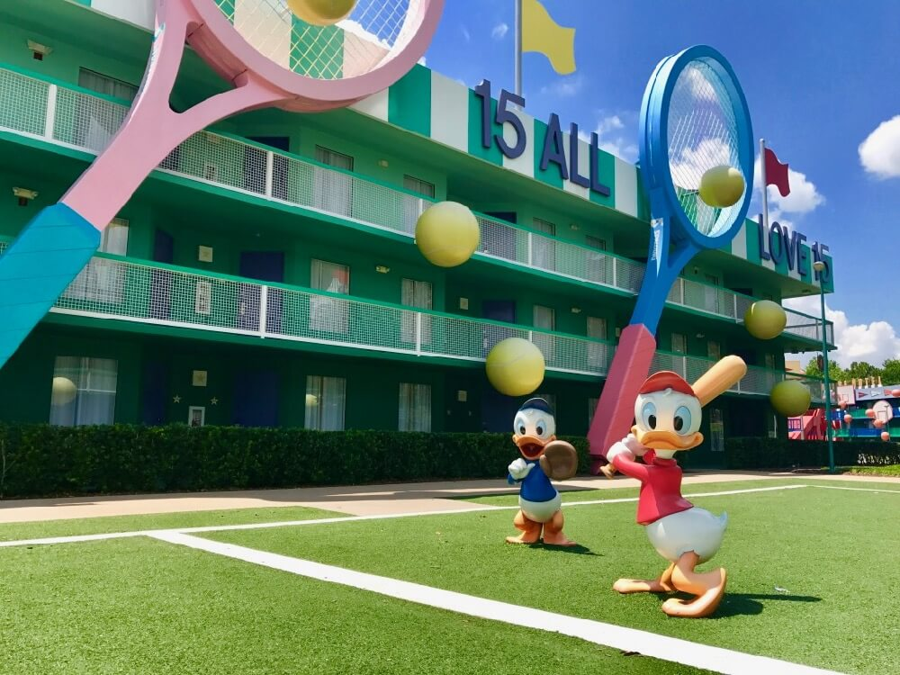 Disney World Value Resort Hotels All Star Sports Tennis