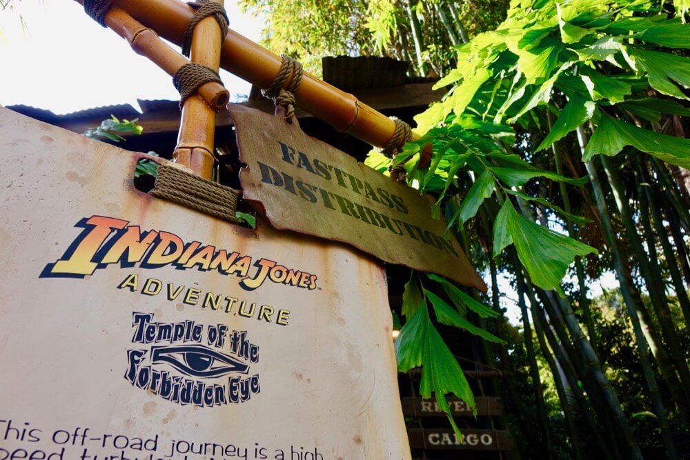 Maximize your time at Disneyland - Indiana Jones Fastpass