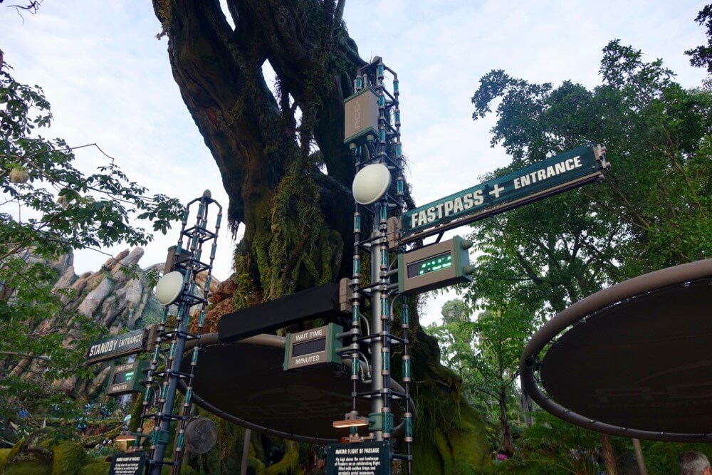 Pandora World of Avatar Fastpass Tips - Avatar Flight of Passage Fastpass Signage