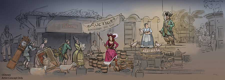 Disney Reimagining Pirates of the Caribbean Auction Scene