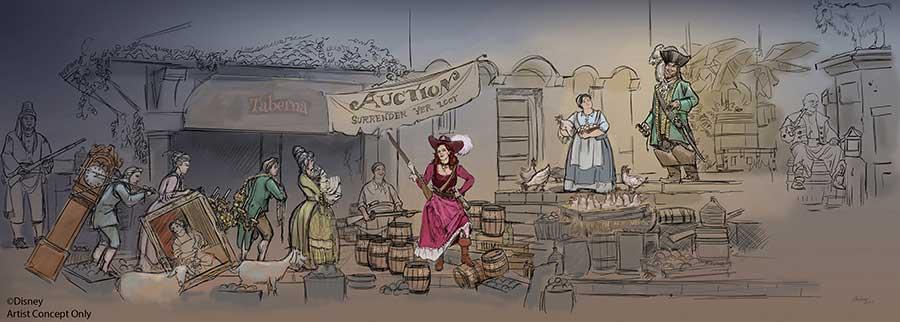 Disney Reimagining Pirates of the Caribbean Auction Scene