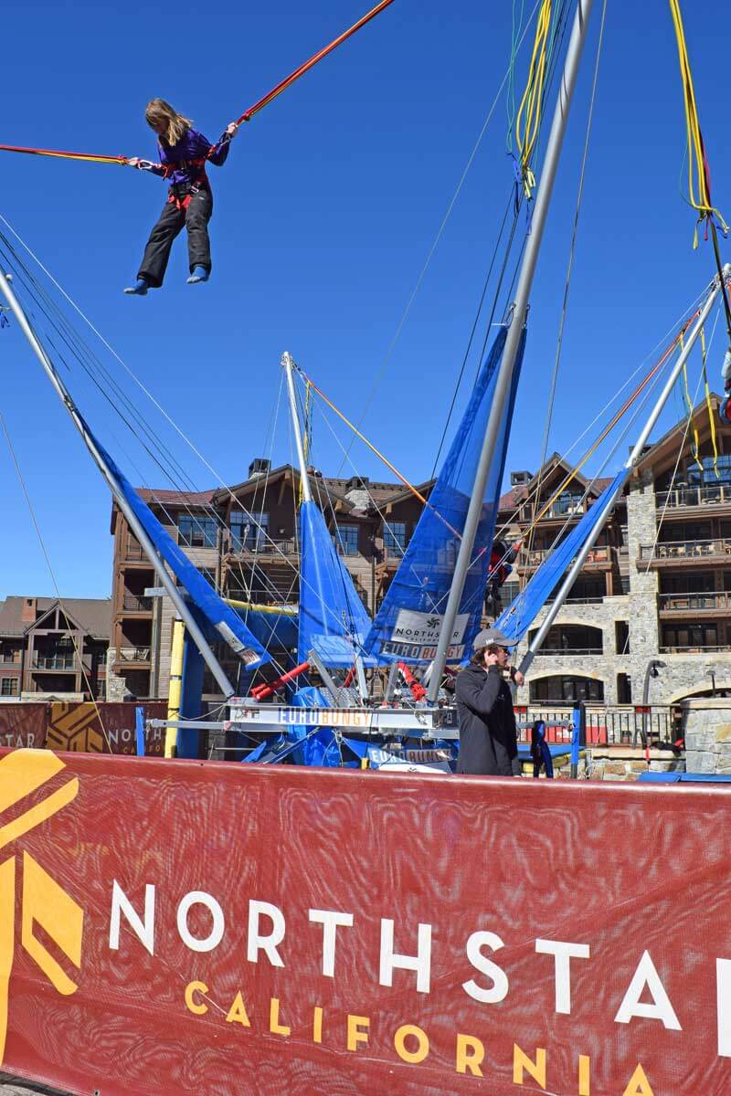Family Fun Beyond the Ski Slopes - Bungee Jumping at Northstar Village