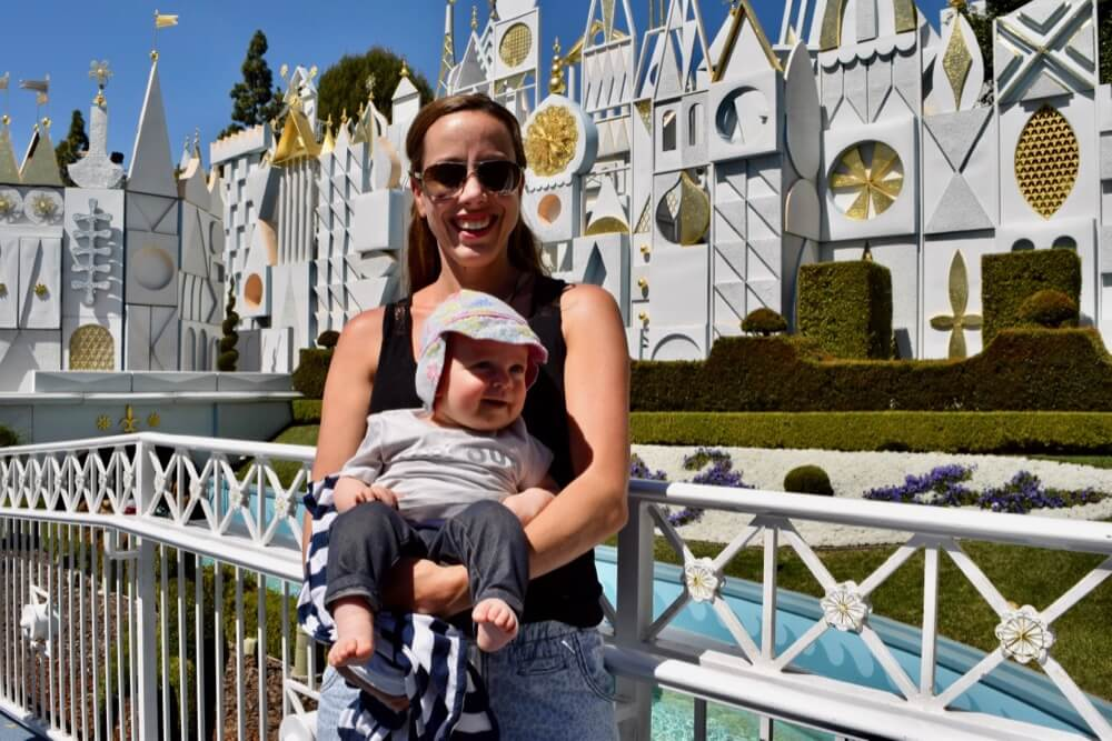 Taking a Baby to Disneyland - Baby at small world