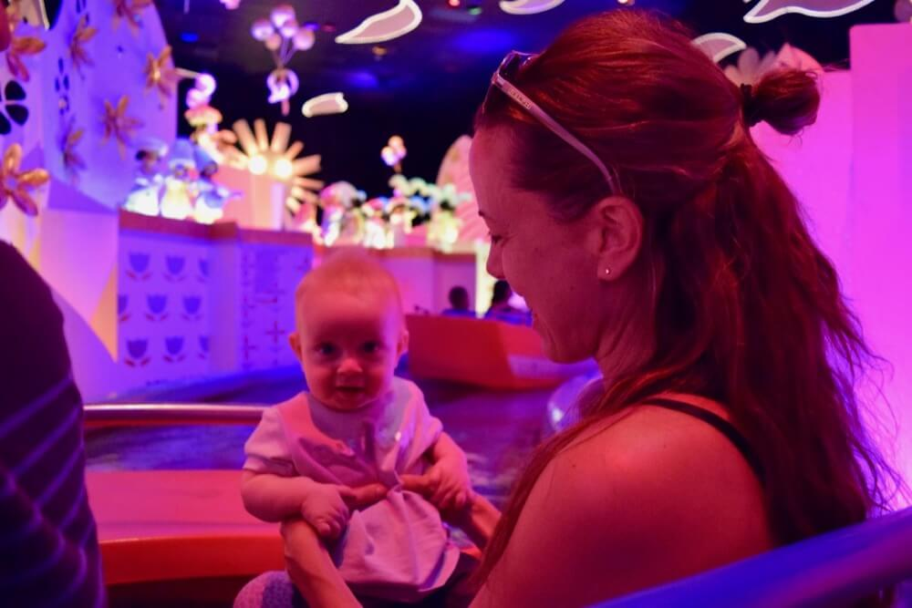 Going to Disneyland with a Baby - Baby on Small World