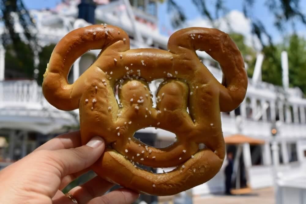 Best Disneyland Snacks - Disneyland Mickey Mouse Pretzel