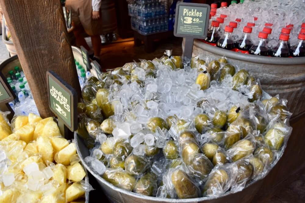 Best Disneyland Snacks - Disneyland Giant Pickle