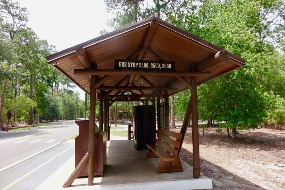Fort Wilderness at Disney World - Ft. Wilderness Bus Stop