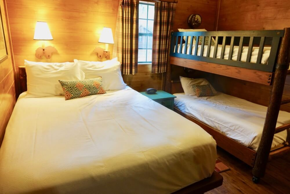 Fort Wilderness at Disney World - Ft. Wilderness Cabin Bedroom