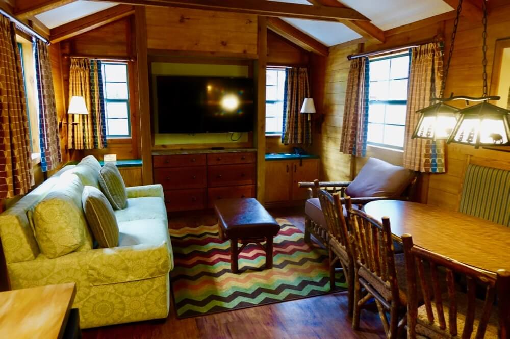 Fort Wilderness at Disney World - Ft Wilderness Cabin - Living Room