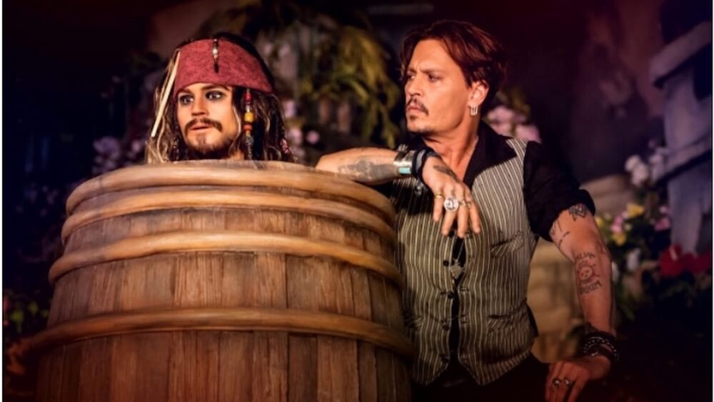 Fantasmic! at Disneyland - Johnny Depp at Disneyland Paris