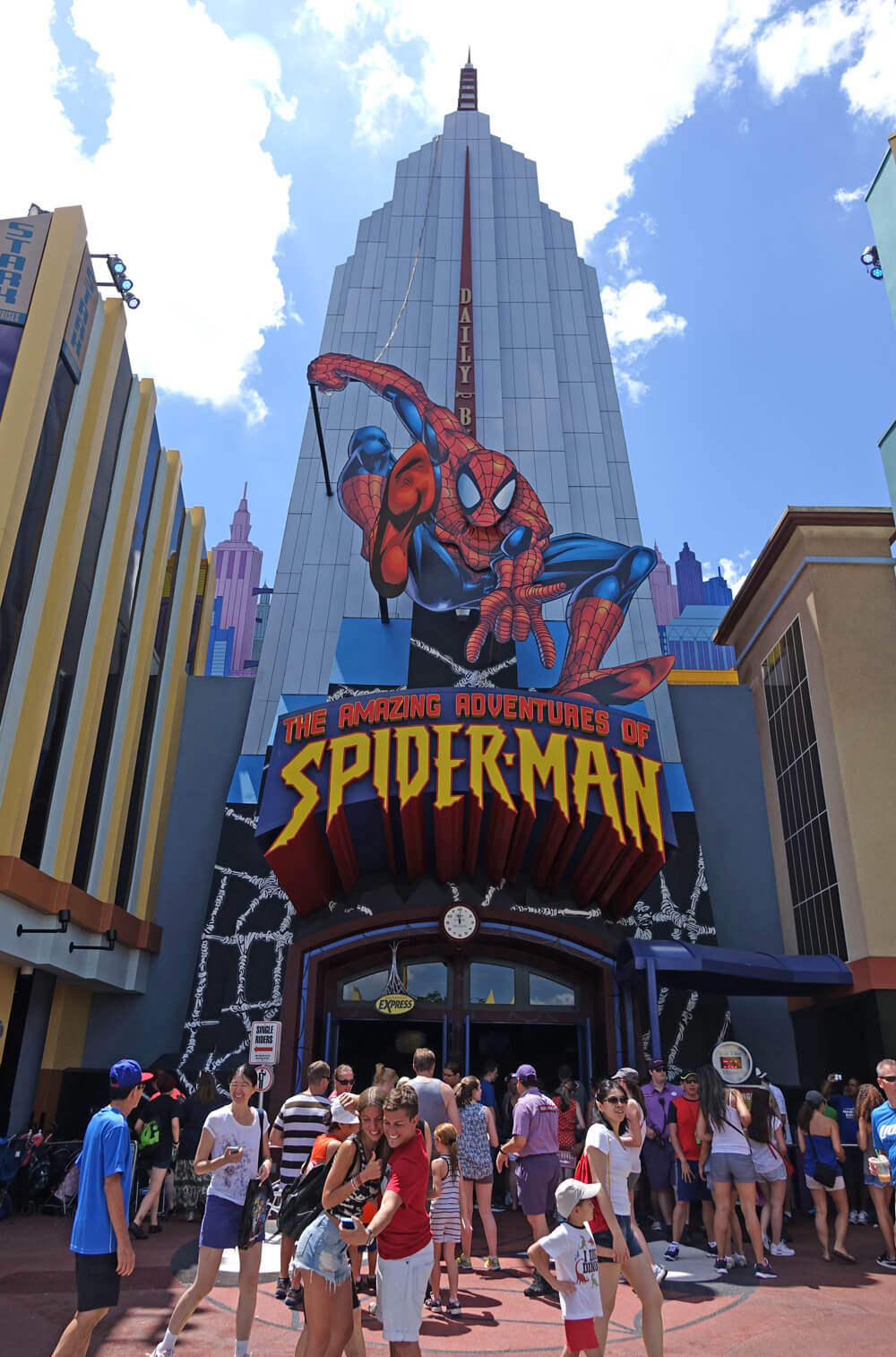 Universal Express Pass Queue - The Amazing Adventures of Spider Man