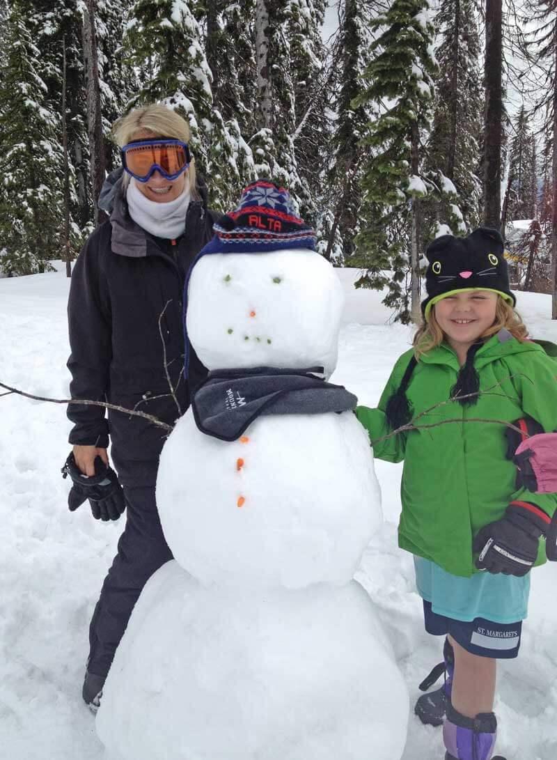 Apres-ski with kids - Make a Snowman