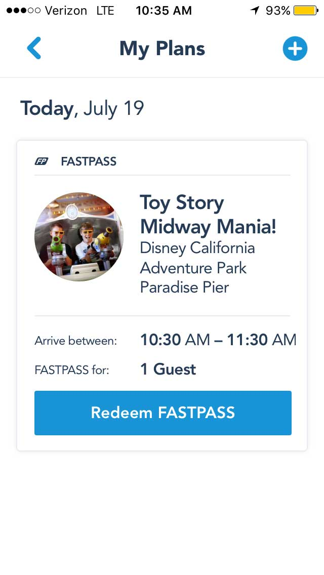 Disney MaxPass - Toy Story FASTPASS