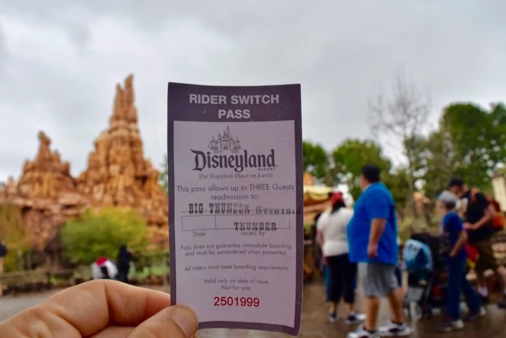 Disneyland Height Requirements - Big Thunder Mountain Rider Switch