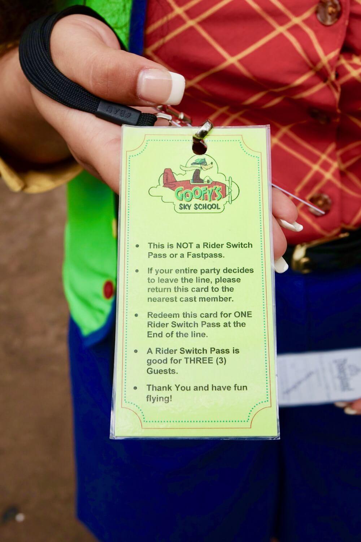 Disneyland Height Requirements - Rider Switch Exchange Ticket