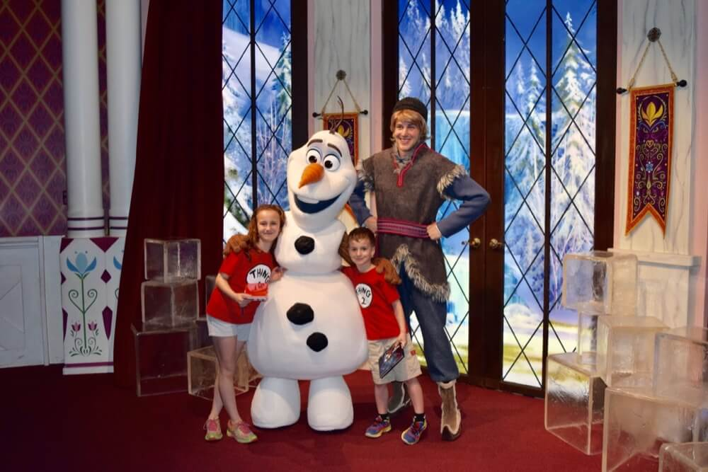 Disneyland Disability Access Service - Olaf,Kristoff and Guests