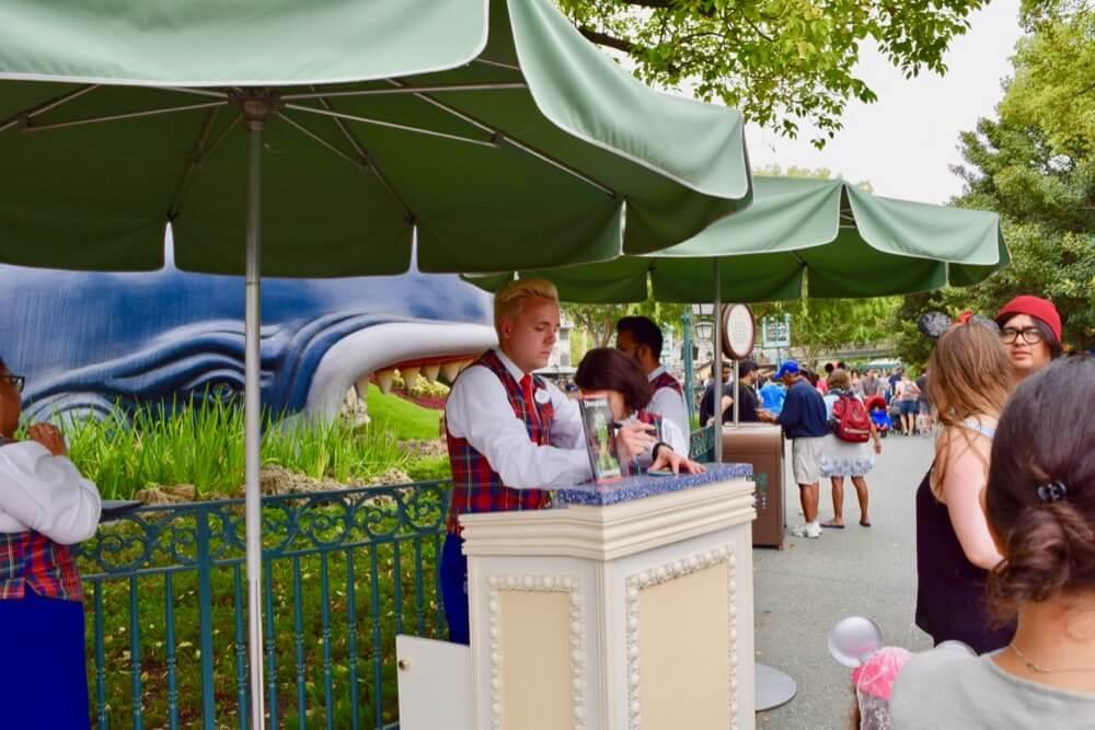 Disneyland Disability Access Service - Disneyland Information Kiosk in Fantasyland