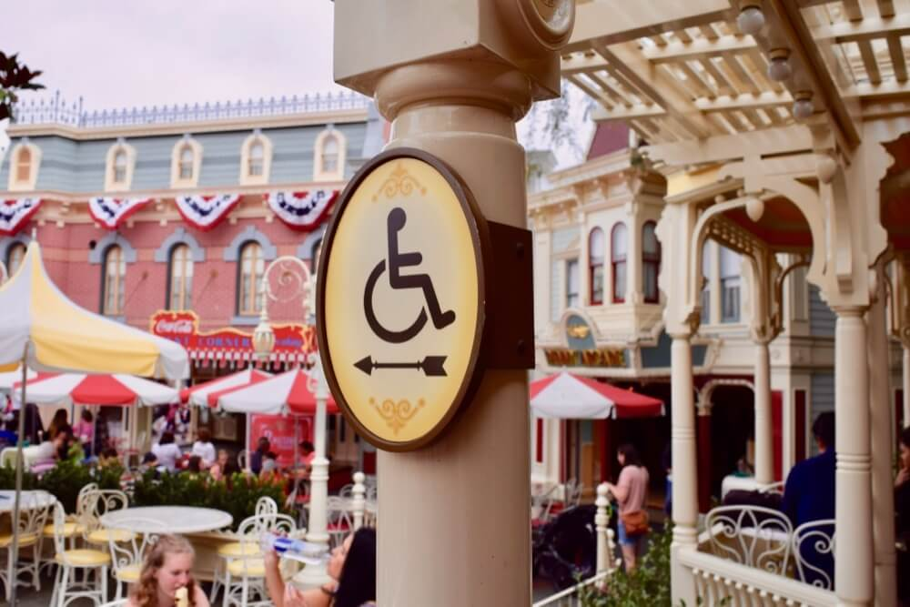 Disneyland Disability Access Service - Disneyland Wheelchair Sign